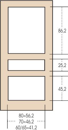 Porta interna 3 pannelli