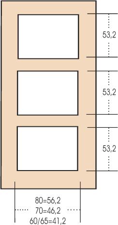Porta interna 3 pannelli uguali