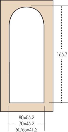 Porta interna H15 tondo