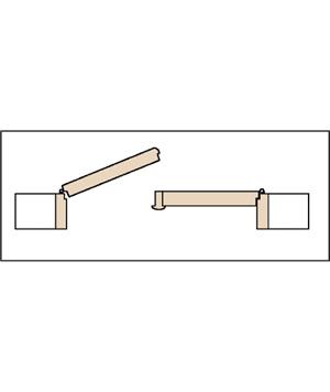 Porte Interne: Due ante apertura centrale sinistra.
