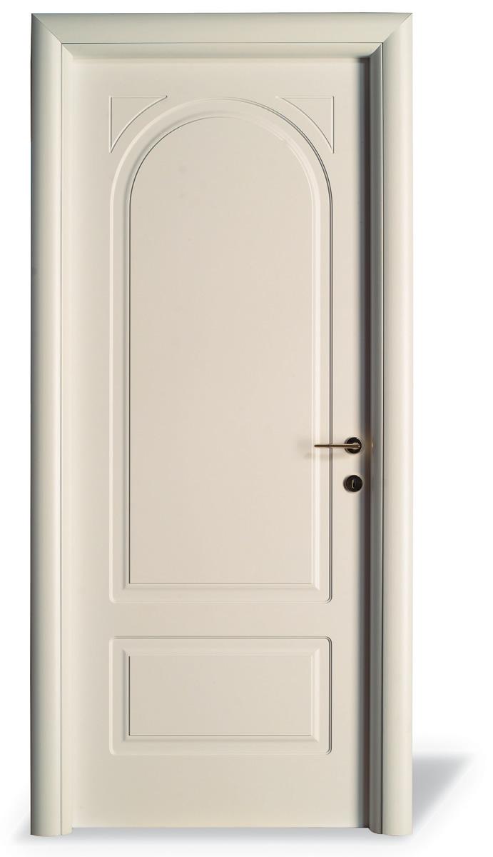 Porta interna H12T tondo pantografato con incisioni - Cieca