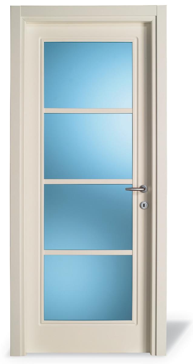 Porta interna V1 pantografato - 4 vetri - Prof. 4+33