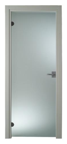 Porta interna Tutto vetro satinato grigio