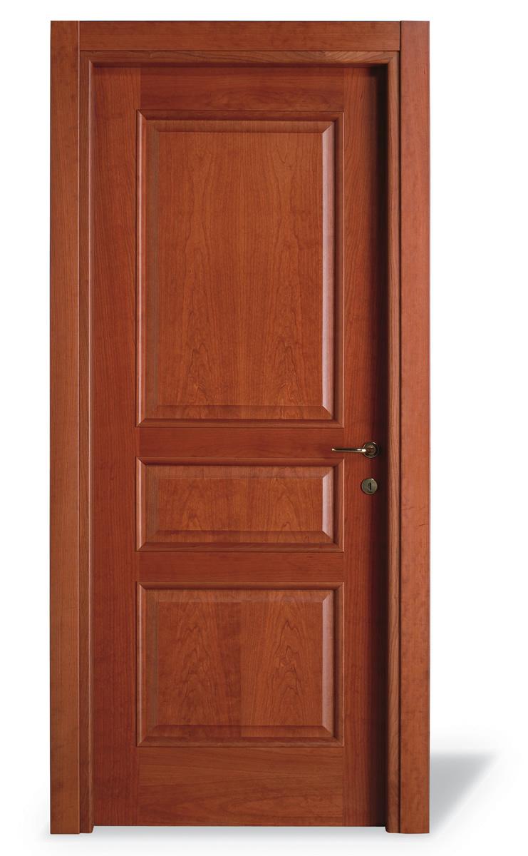 Porta interna 3 pannelli ciliegio - cieca